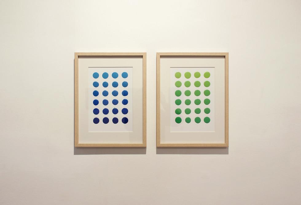 Color Palette Blue 3 y Color Palette Green 1+Light Green Permanent 2