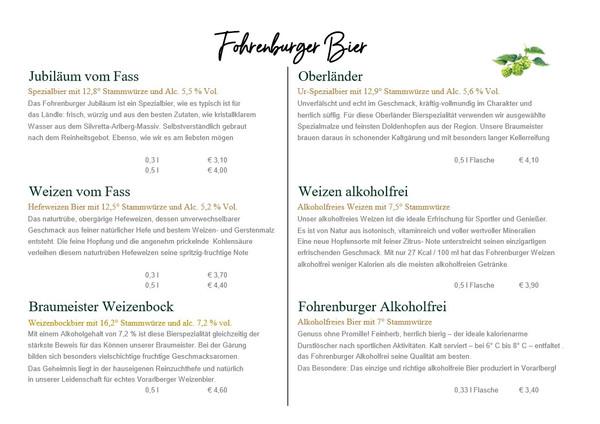Fohrenburger Bier