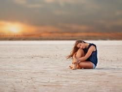 senior girl on salt flats