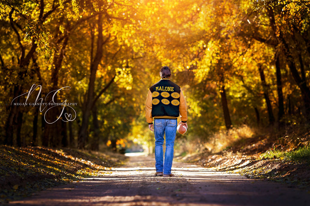 Golden Fall Light Senior Letterman