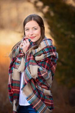 Oklahoma Senior with Blanket Scarf