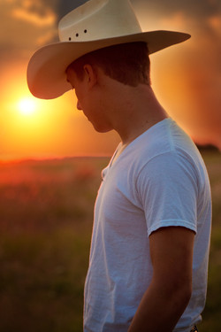 cowboy hat and sunset