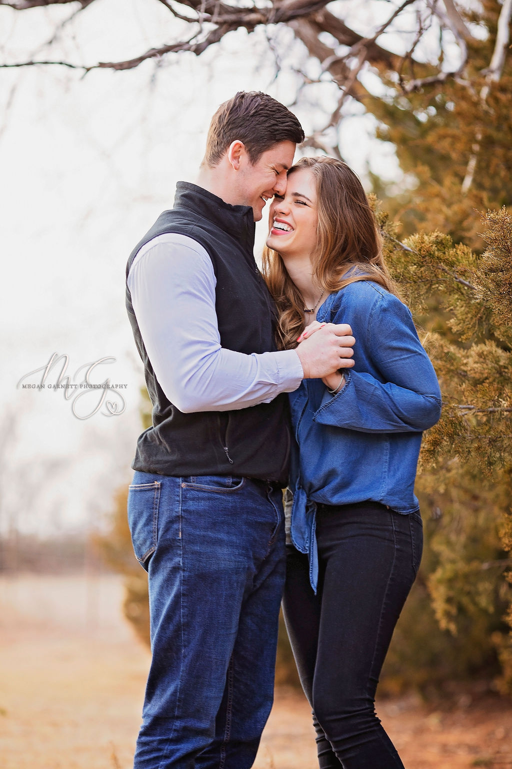 Cute Couple Laughing engagement