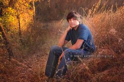 boy in golden grass