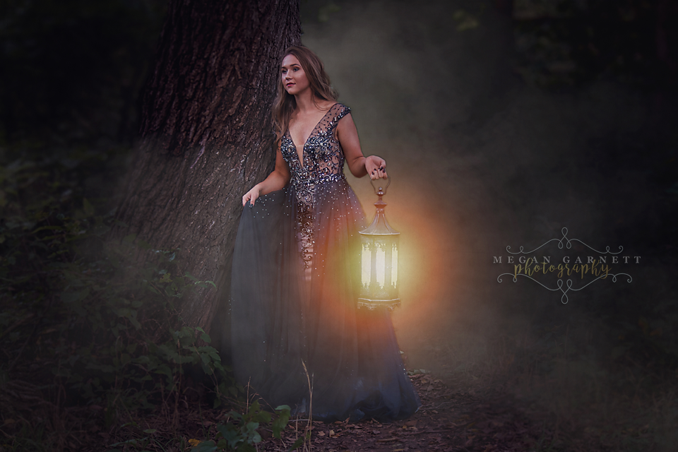 Dramatic Girl with Lantern