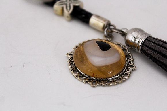 Amber Eye Keychain