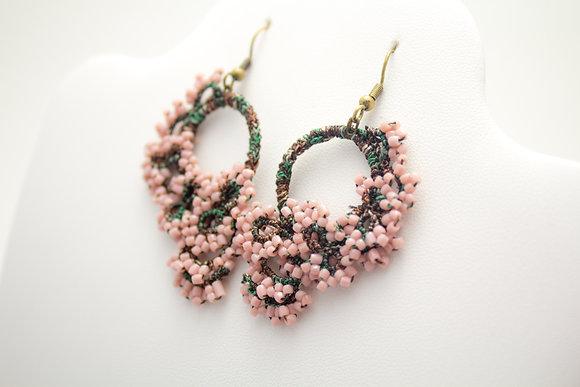 7793A Rose Hoop Earrings