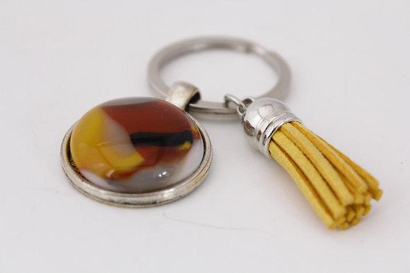 Yellow & Amber Keychain