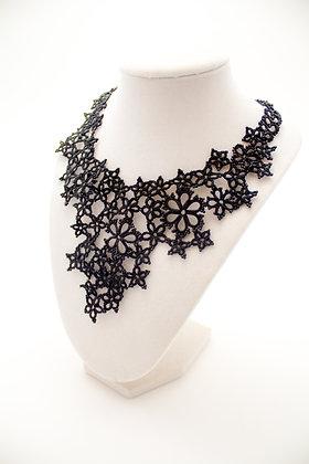 7008A Black Lace Necklace