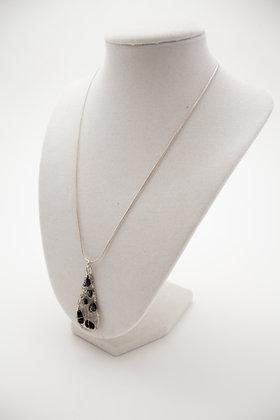 Black Onyx Crochet Wire Necklace