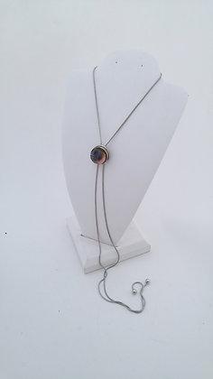 """""""Bolo"""" Style Interchangeable Pendant Necklace w/ Button Charm"""