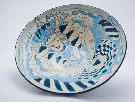 Blue Spring Goddess Bowl