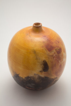 Smoke Fired Tapered Round Vase