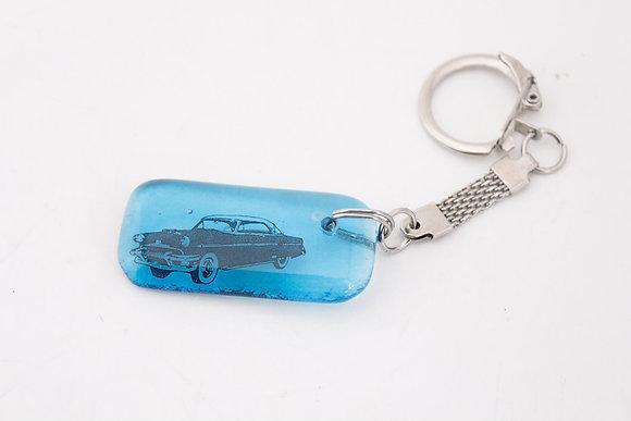 Blue Car Keychain