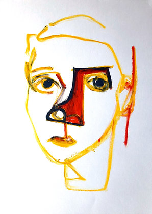 Untitled (Oil Pastel on Paper #10)