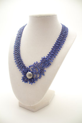 Corsica Necklace in Navy