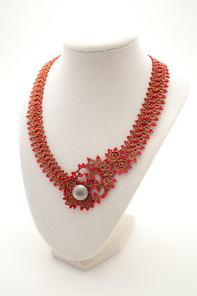 Corsica Necklace in Red