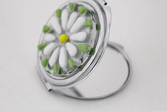Glass Daisy Mirror