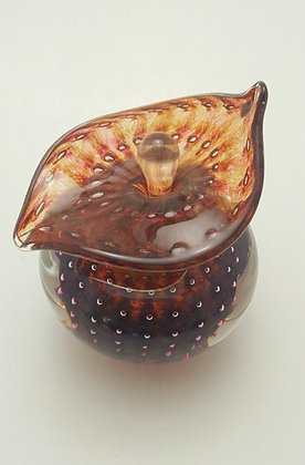 Bubble Design Perfume Bottle in Amber
