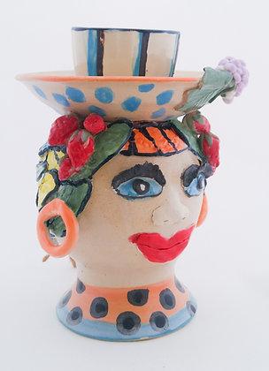 "Cup & Saucer Sculpture ""Carmen"""