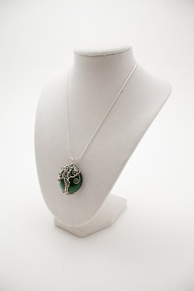 Green Tree of Life Necklace