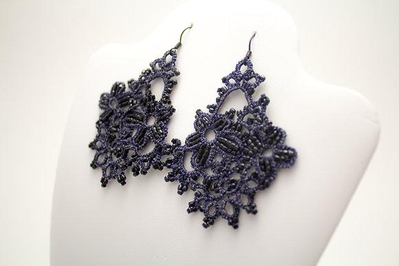 C107A Black Earrings