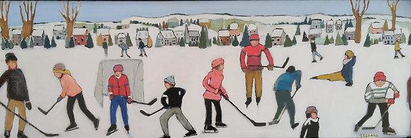 Partie de Hockey du Village