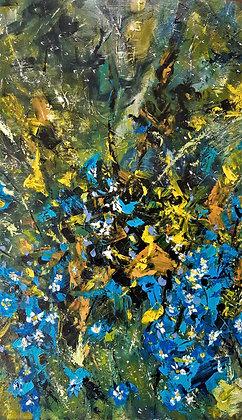 À fleurs bleues