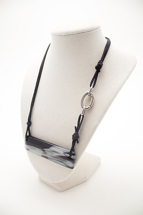 Grey and Black Rectangle Necklace