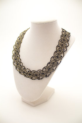 Leila Necklace in Black and Gold