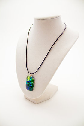 Earth Foiled Glass Necklace