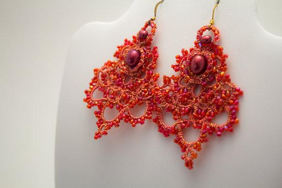 289A Red Earrings