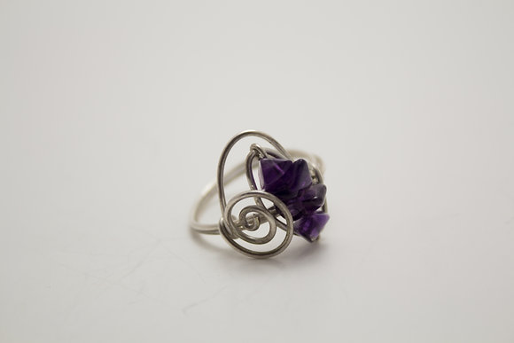 Amethyst Wire Ring