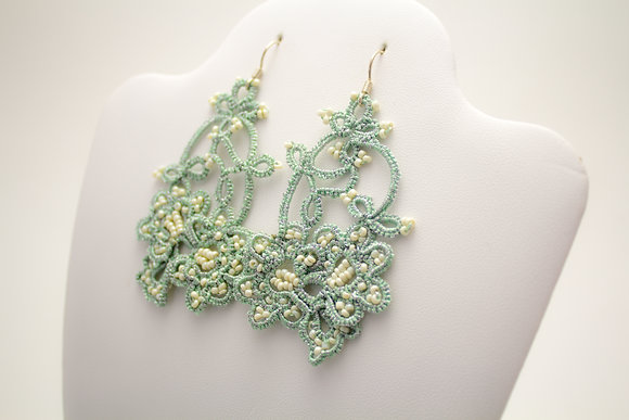 Ninelle Earrings in Mint