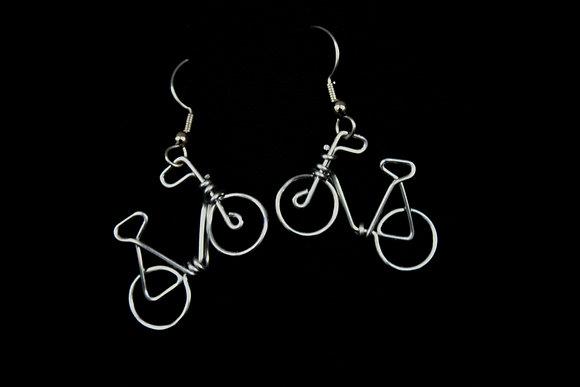 Bike Earrings