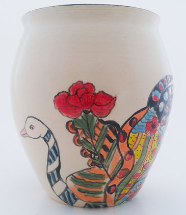 Swan & Rooster Pot
