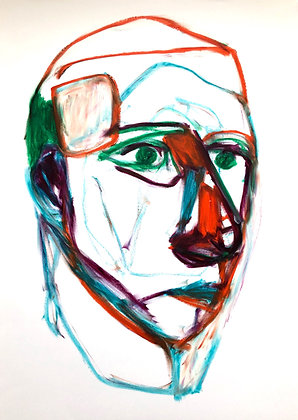 Untitled (Oil Pastel on Paper #29)