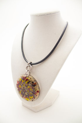Red,Yellow, and Grey Necklace