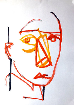 Untitled (Oil Pastel on Paper #12)