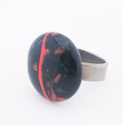 Black and Red Ring