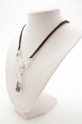White Teardrop Necklace