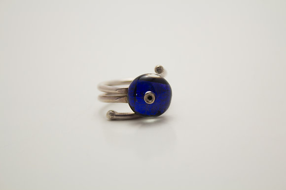 Bafil Blue Crystal Ring