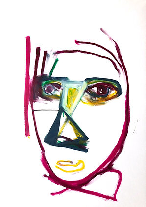 Untitled (Oil Pastel on Paper #25)