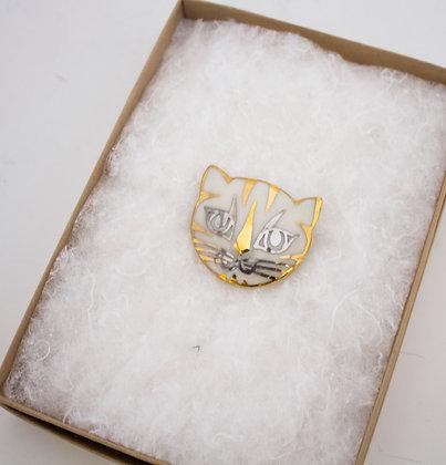 Gold Cat Brooch
