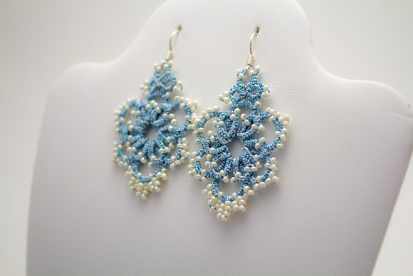 C105H Sky Blue Earrings