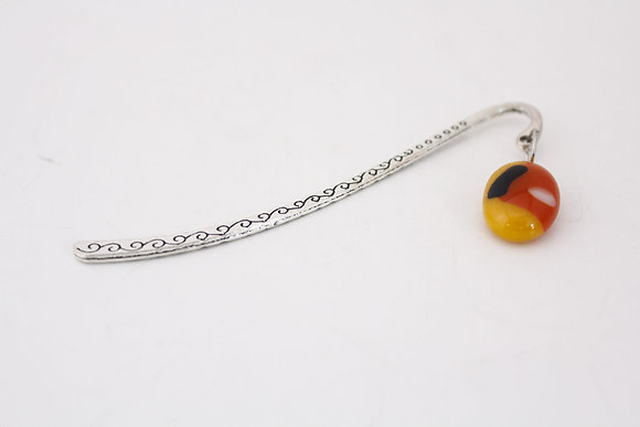 Yellow & Red Glass Bookmark