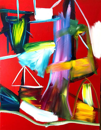 Untitled (Acrylic on canvas #15)