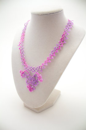 C495 Pink and Purple Necklace