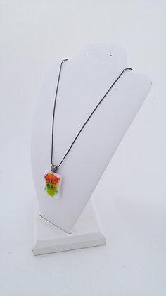 Floral Vase Pendant Necklace