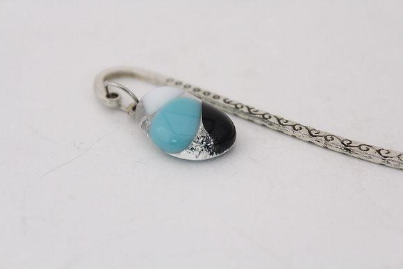 Black & Aqua Glass Bookmark